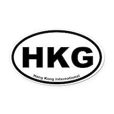 Hong Kong International Oval Car Magnet