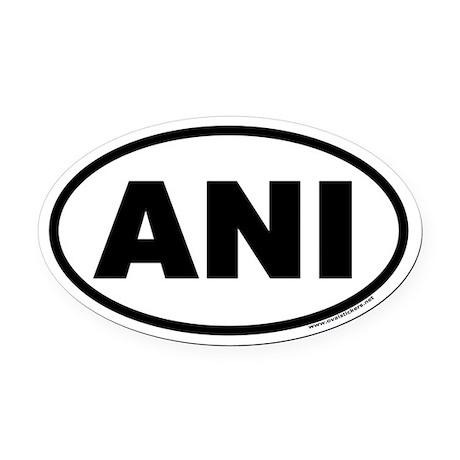 ANI Euro Oval Car Magnet