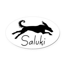 Art Deco Saluki Oval Car Magnet