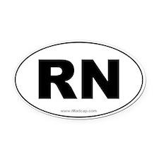 RN Car Oval Car Magnet