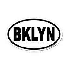 Brooklyn, New York BKLYN Euro Oval Car Magnet
