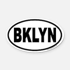 Brooklyn, New York BKLYN Euro Oval Car Magnet