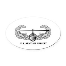 Air Assault Wings Oval Car Magnet