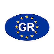 EU Greece Oval Car Magnet