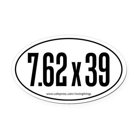 7.62x39 Oval Car Magnet