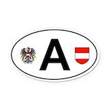 Austria Oval Car Magnets