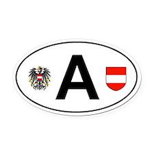 Austria car Oval Car Magnet