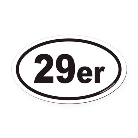 29er Euro Oval Car Magnet