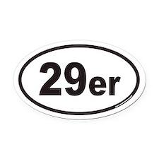 29er Euro Oval Car Magnet
