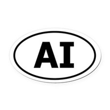 AI (American Indian) Oval Car Magnet