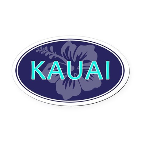 KAUAI, HAWAII - Oval Car Magnet
