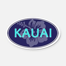 KAUAI, HAWAII - Oval Car Magnet