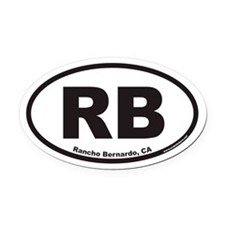 Rancho Bernardo RB Euro Oval Car Magnet