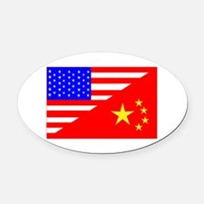 Adoption Flags Oval Car Magnet