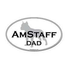 Am Staff Terrier DAD Oval Car Magnet