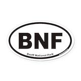 Banff national park Oval Car Magnets