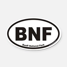 Banff National Park BNF Euro Oval Car Magnet
