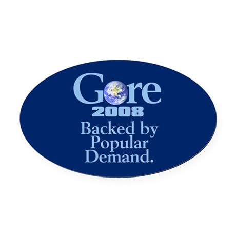 BACKED BY POPULAR DEMAND Oval Car Magnet