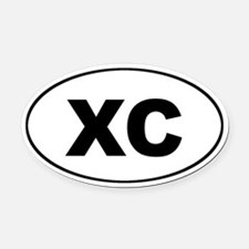 XC Cross Country Euro Oval Car Magnet