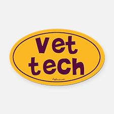 Vet Tech Oval Car Magnet