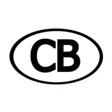 Oval CB Chesapeake Bay Oval Car Magnet