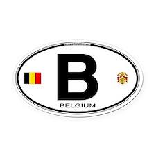 Belgium Euro Oval Oval Car Magnet