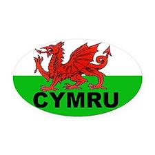 CYMRU - WALES Oval Car Magnet