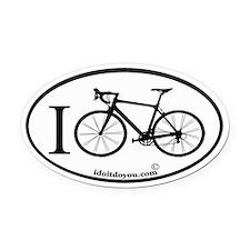 Unique Biking Oval Car Magnet