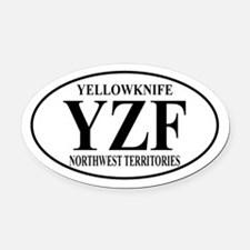 Yellowknife Oval Car Magnet