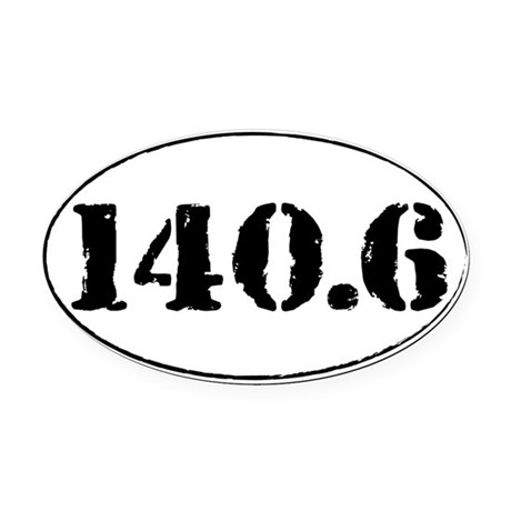 140.6 Oval Car Magnet