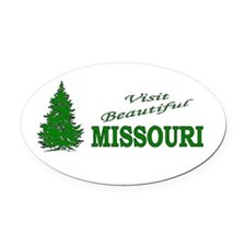 Cute Branson Oval Car Magnet