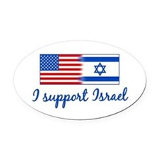 Support Israel Oval Car Magnet