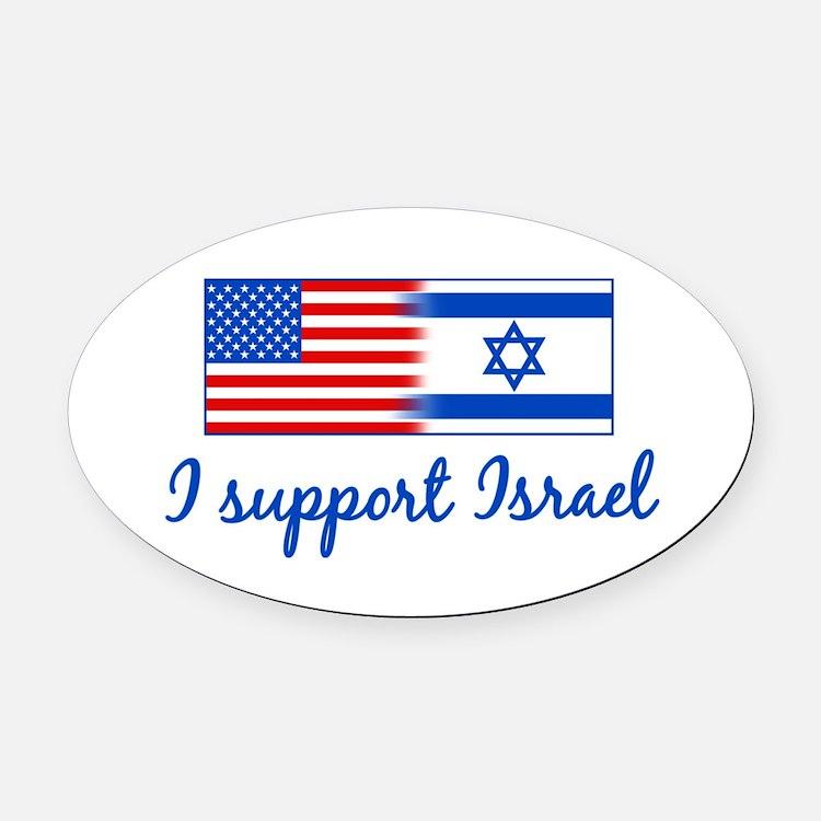 Support Israel Oval Car Magnet