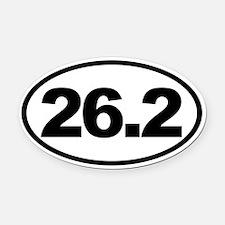 26.2 Full Marathon Oval Euro Oval Car Magnet