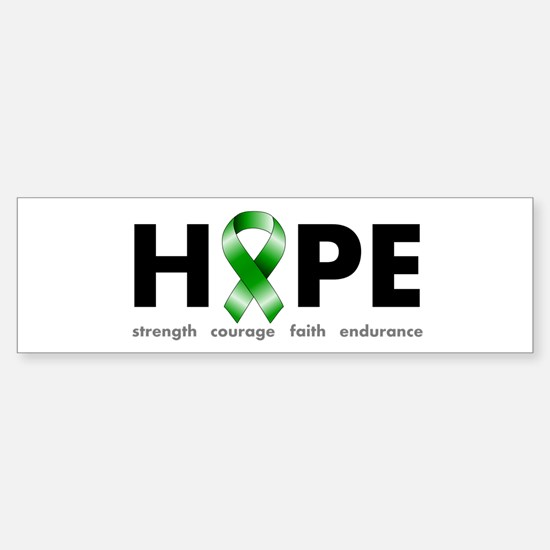 Green Ribbon Hope Sticker (Bumper)