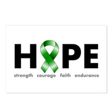 Green Ribbon Hope Postcards (Package of 8)