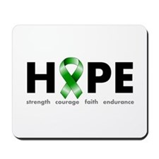 Green Ribbon Hope Mousepad