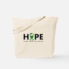 Green Ribbon Hope Tote Bag