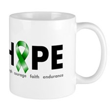 Green Ribbon Hope Small Mug