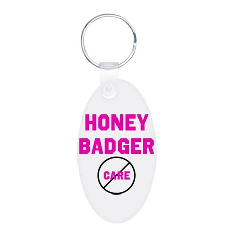 Fearless Honey Badgers Aluminum Oval Keychain