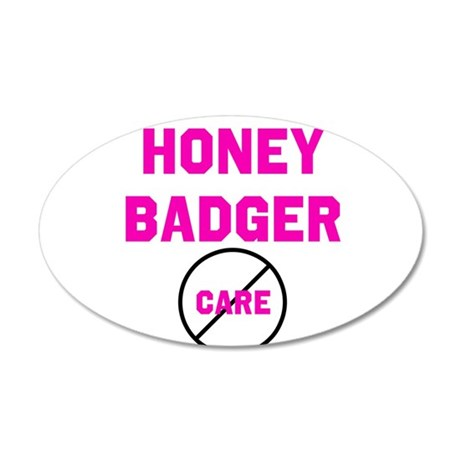 Fearless Honey Badgers 22x14 Oval Wall Peel