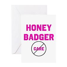 Fearless Honey Badgers Greeting Card