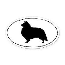 Shetland Sheepdog Oval Car Magnet