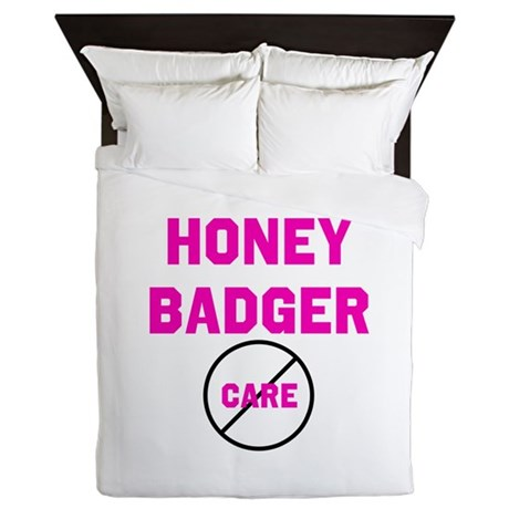 Fearless Honey Badgers Queen Duvet