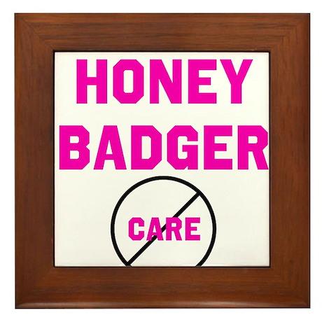 Fearless Honey Badgers Framed Tile