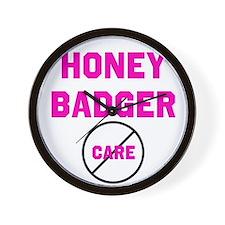 Fearless Honey Badgers Wall Clock