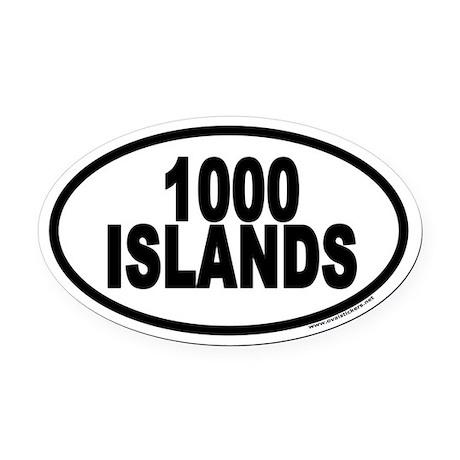 1000 Islands Euro Oval Car Magnet