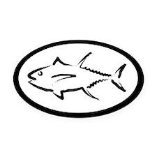 Tuna Oval Car Magnet