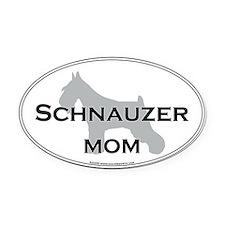 Schnauzer MOM Oval Car Magnet
