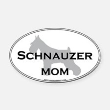Schnauzer MOM Oval Car Magnet